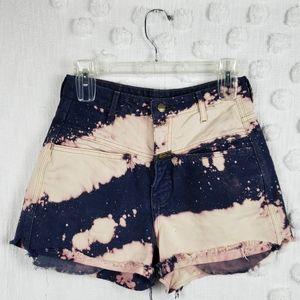 90's Vintage Bleach Splatter Jean Shorts sz 7/8